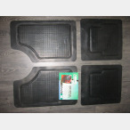 UNIVERSAL RUBBER CAR MATS- 4 PCS